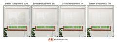 Estores Decor Screen Fibra Vidrio Visibilidad Media