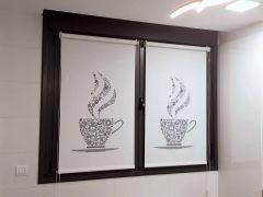Estor cocina impresión digital café y más