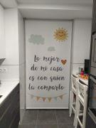 Estores impresos Cocina con mensaje
