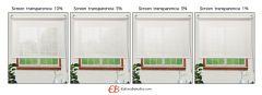 Mini estores sin Taladrar EcoScreen5% visibilidad media