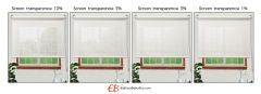 Mini estores sin Taladrar EcoScreen1% Visibilidad muy baja