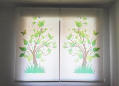 Estores impresión digital con motivos florales