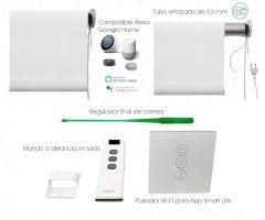 Motor Inteligente Wi-Fi/ Hasta 4mt. de ancho. Motor + Tubo