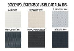 Estores Screen Poliéster 3500 Visibilidad Alta 10%