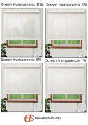 Estores Screen Poliéster 3500 Visibilidad Baja 3%
