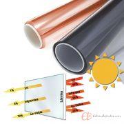 Enrollable Protección Solar Escaparates Naranja
